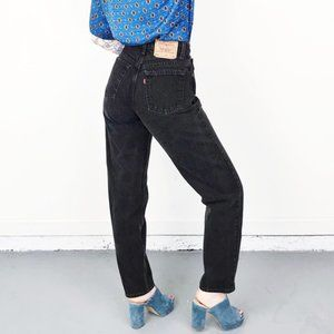 Levi's   560 High Waisted tapered leg Mom Jeans 14